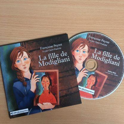 CD Livre audio La fille de Modigliani