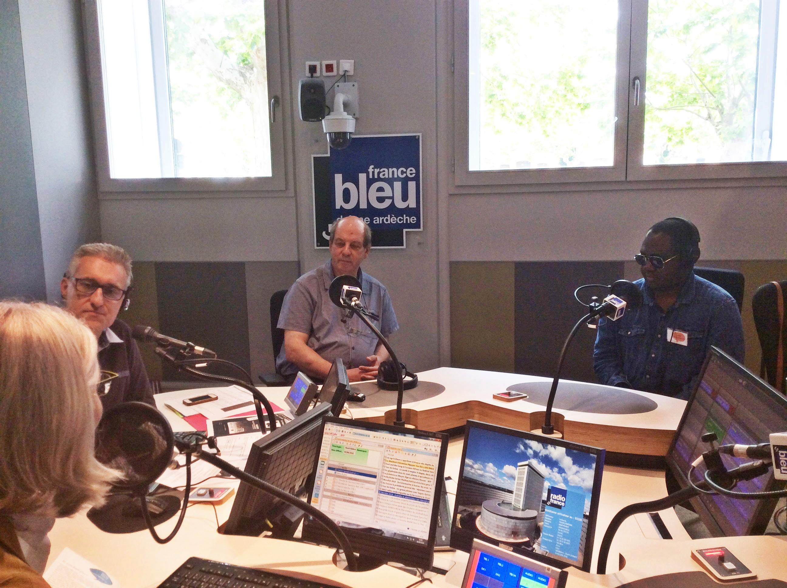Jean Daro et Rama Likibi à France bleu Drôme Ardèche